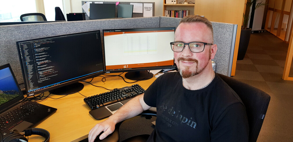 Øystein Amundsen jobber til vanlig som utvikler i Bouvet, men har de siste årene lagt sjela i et system, som aldri ble lansert. 📸: Privat