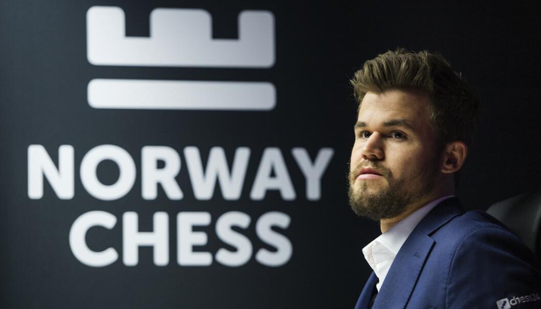 Magnus Carlsen er blant de som har gitt sin støtte til den mulige samarbeidsavtalen mellom spillgiganten Kindred Group og Norges Sjakkforbund. Her fra siste runde i Norway Chess. Foto: Carina Johansen/NTB scanpix