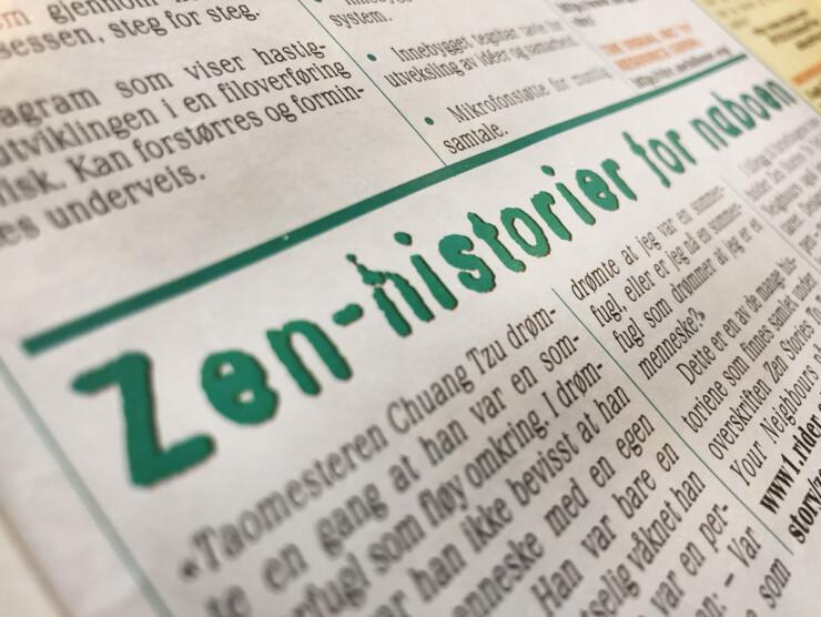 På internett i 1998 var det Taomestere med Zen-råd som gjaldt. 📸: Jørgen Jacobsen