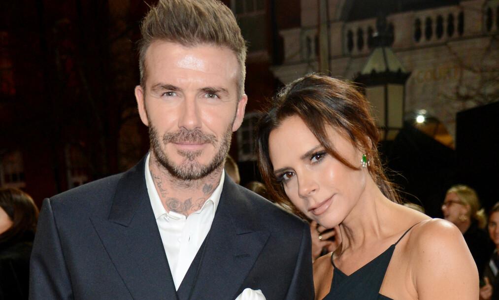 <strong>SLO PÅ STORTROMMA:</strong> Den tidligere fotballspilleren David Beckham sparte ikke på kruttet da han skulle overraske kona, Victoria Beckham, på deres 20 års bryllupsdag. Foto: NTB scanpix