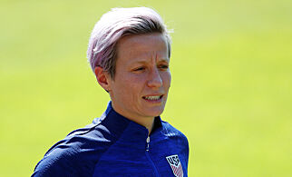 Soccer Football - Women's World Cup - United States Training - Terrain d'Honneur, Limonest, France - July 6, 2019  Megan Rapinoe of the U.S. during training  REUTERS/Emmanuel Foudrot