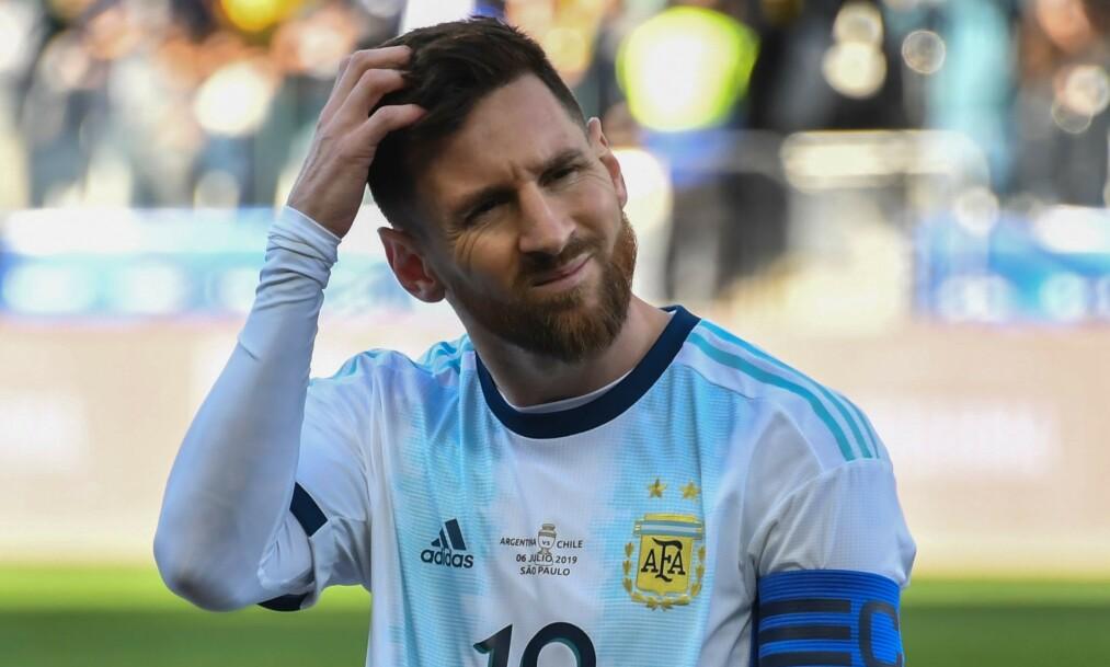 <strong>FÅR KRITIKK:</strong> Lionel Messis kommentarer den siste tiden har ikke falt i god jord hos Brasils trener Tite. Foto: Nelson ALMEIDA / AFP / NTB Scanpix