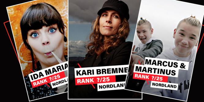 Stor kåring: De 25 beste artistene fra Nordland