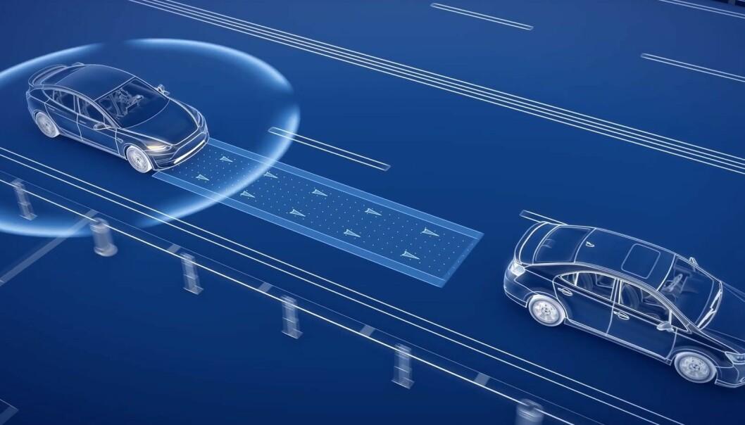 <strong>KOMMUNISERER MED HVERANDRE:</strong> Den korte responstiden gjør at biler som kommuniserer med hverandre over 5G, aldri vil kollidere, håper ekspertene. Illustrasjon: Inseego