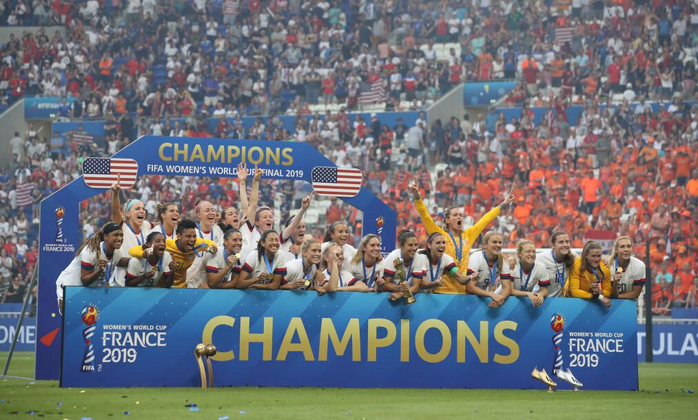 <strong>POPULÆRE:</strong> Over 500 000 så USA slå Nederland i VM-finalen i Frankrike. Jonathan Moscrop / Sportimage via PA Images / NTB Scanpix