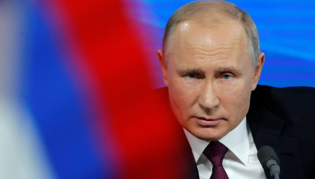- SKRIPAL VAR EN FORRÆDER: Russlands sterke mann Vladimir Putin Foto: Maksim Sjemetov / Reuters / NTB Scanpix