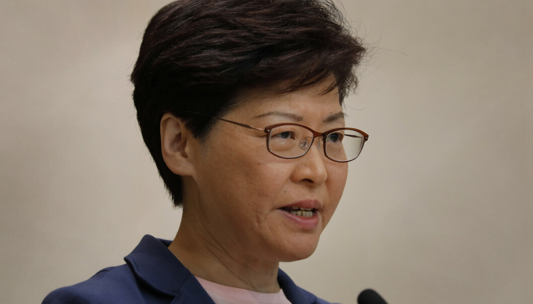 Hongkong-leder vil legge utleveringslov død – blir kalt løgner