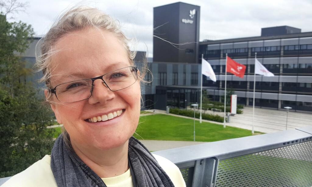 Janniche Lange har 16 års fartstid som utvikler, og jobber for tiden i Equinor. 📸: Privat