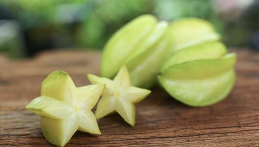 <strong>KAN OGSÅ GI OVERDOSE:</strong> Stjernefrukt er en annen matvare man bør passe på å ikke spise når man tar enkelte medisiner. Foto: Finchfocus/Shutterstock/NTB scanpix.