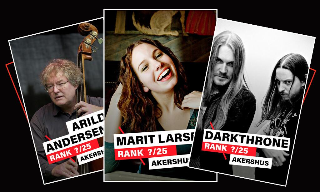 DAGBLADET KÅRER: Dagbladet kårer de beste artistene/bandene fra Akershus de siste 40 åra. Illustrasjon: Liselotte Hauer Kind / Dagbladet