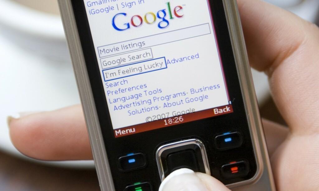 Til og med Google dukket opp på WAP. 📸: Alex Segre/REX / Scanpix