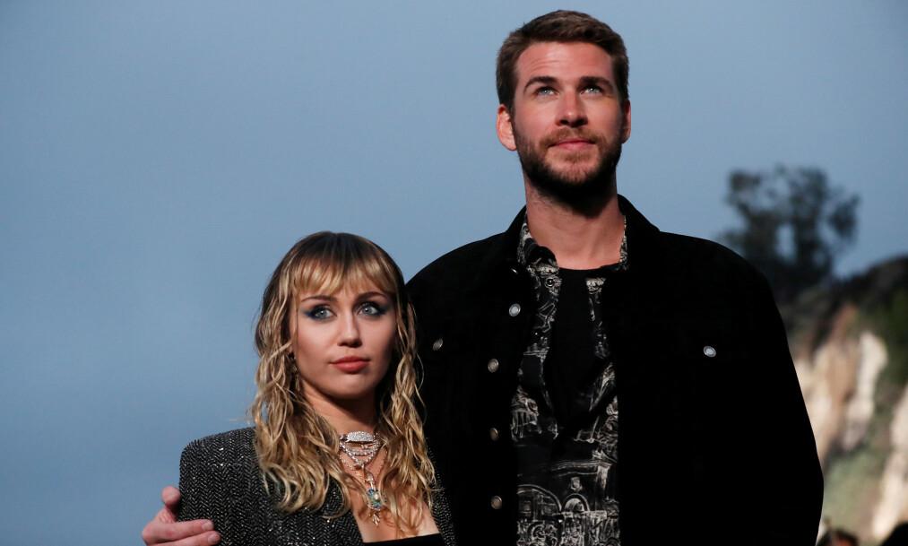 <strong>UNIKT FORHOLD:</strong> I et ferskt intervju forteller Hollywood-stjernen Miley Cyrus åpenhjertig om ekteskapet til Liam Hemsworth og hvorfor hun ikke foreløpig ikke vil ha barn. Foto: NTB Scanpix