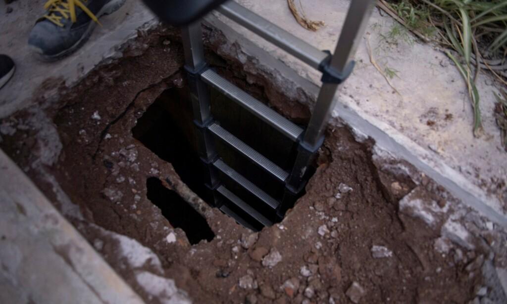 FANT ROM: Den ene graven viste seg å skjule et stort, tomt rom. Foto: Handout / VATICAN MEDIA / AFP