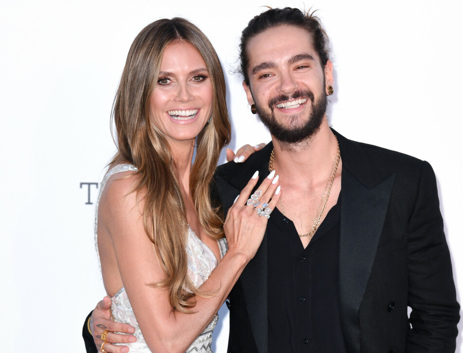 GIFTET SEG: Heidi Klum fant lykken med den tyske artisten Tom Kaulitz i fjor. I julen forlovet de seg, og i februar inngikk de ekteskap. Det er først nå den gledelige nyheten er blitt kjent. FOTO: NTB Scanpix