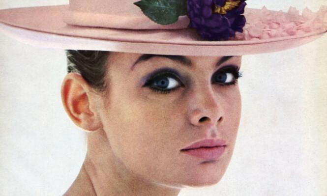 Jean Shrimpton med en mer anvendelig versjon av 60-tallssminken. Foto: Historia/REX/NTB Scanpix.