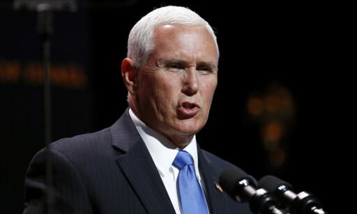 USAs visepresident Mike Pence besøkte migrantleirer i Texas fredag. Foto: Patrick Semansky / AP / NTB scanpix