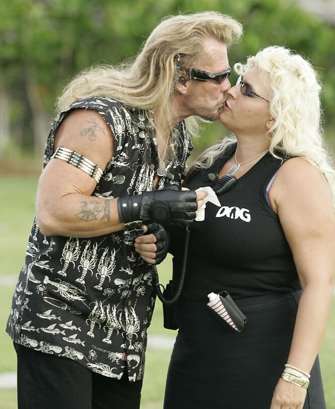 VILLE IKKE GI SLIPP: Duane Dog Chapman fortalte i helgens tale at han ikke ville innse at kona Beth Chapman skulle dø. Foto: NTB Scanpix