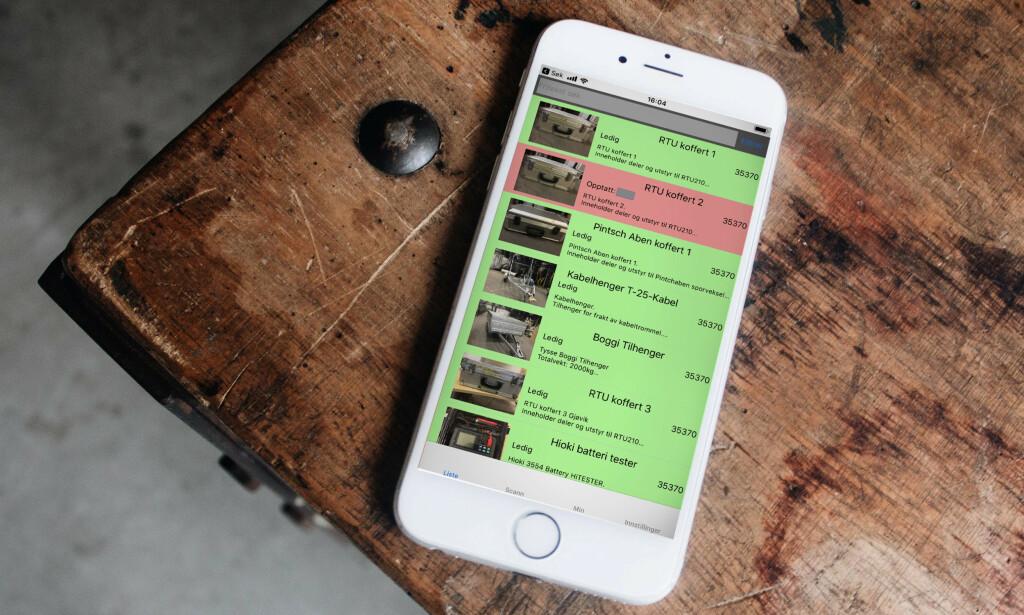 Appen lister lagervarer og hva som er utleid. 📸: Le Buzz, Unsplash / Privat