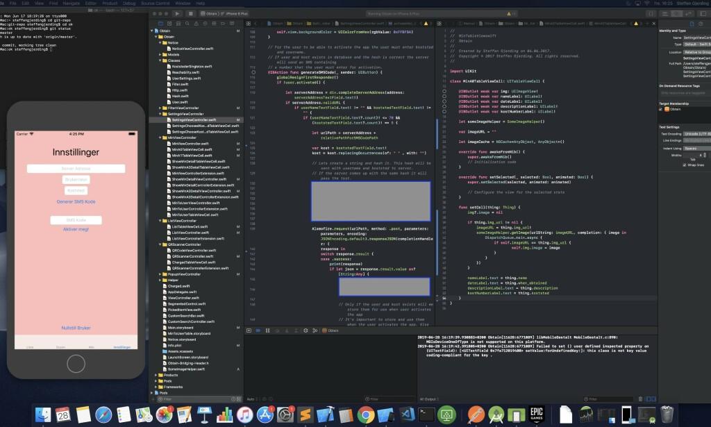 Utviklingen av iPhone-appen skjer på en iMac. 📸: Privat