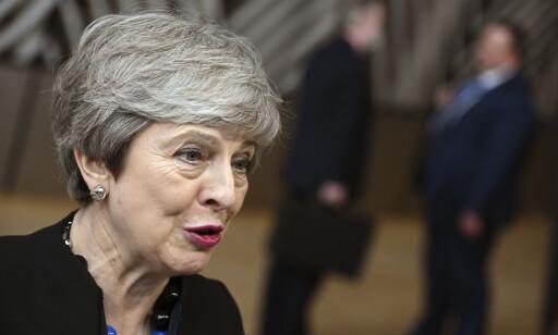 Storbritannias statsminister Theresa May anklager president Donald Trump for totalt uakseptabel språkbruk. Foto: AP / NTB scanpix
