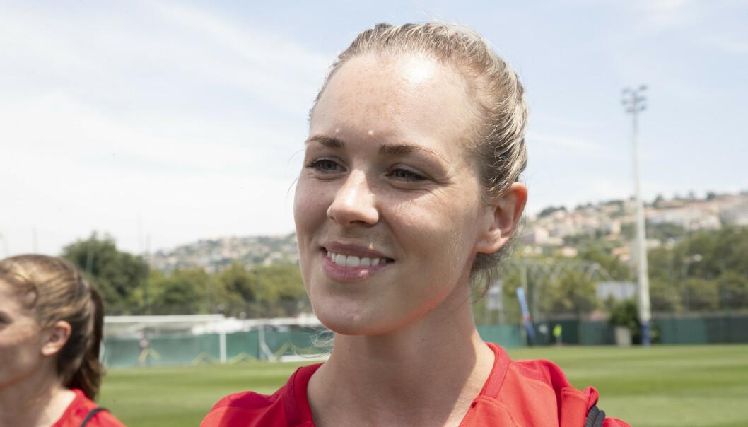 OVERGANG: Stine Hovland er klar for et italiensk eventyr. Hun skal spille for AC Milan fra neste sesong. Foto: Terje Bendiksby / NTB scanpix