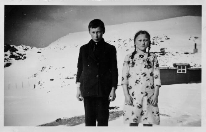 DEN GANG DA: Paula og storebroren Ragnar. FOTO: Privat