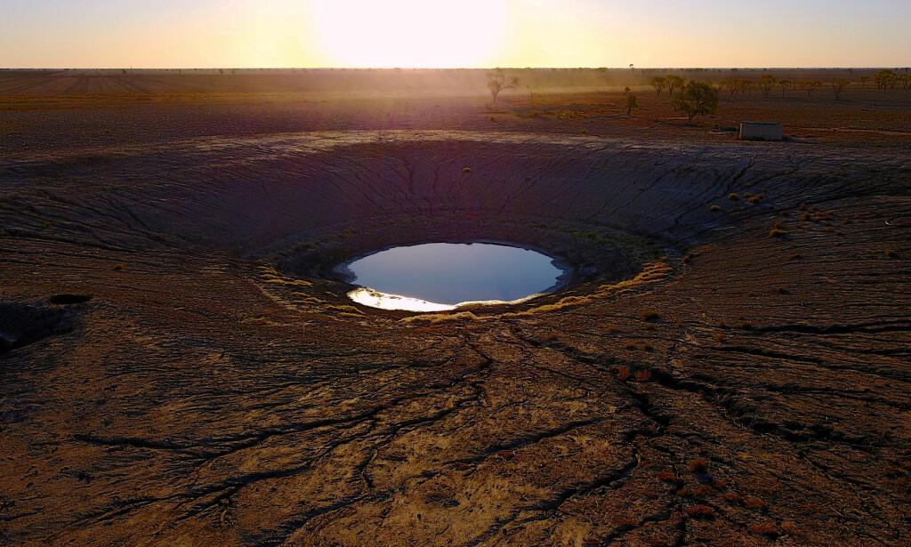 LITE VANN: Et reservoar i New South Wales fra i fjor sommer. Foto: Reuters / NTB Scanpix