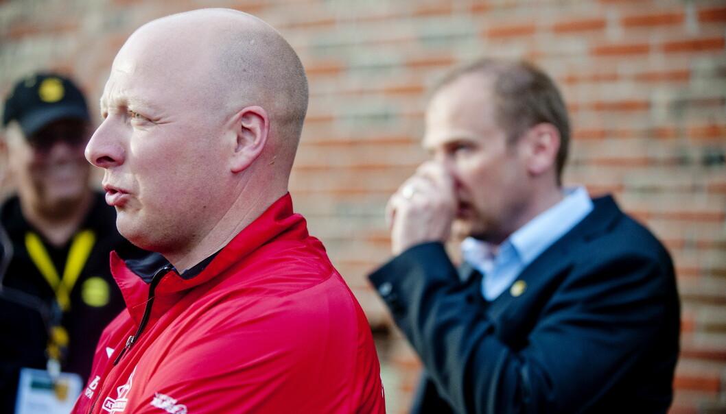 STORTAP: Norge J19 sin trener Nils Lexerød får ting å tenke på etter dagens 5-0-tap. Foto: Jon Olav Nesvold / NTB scanpix