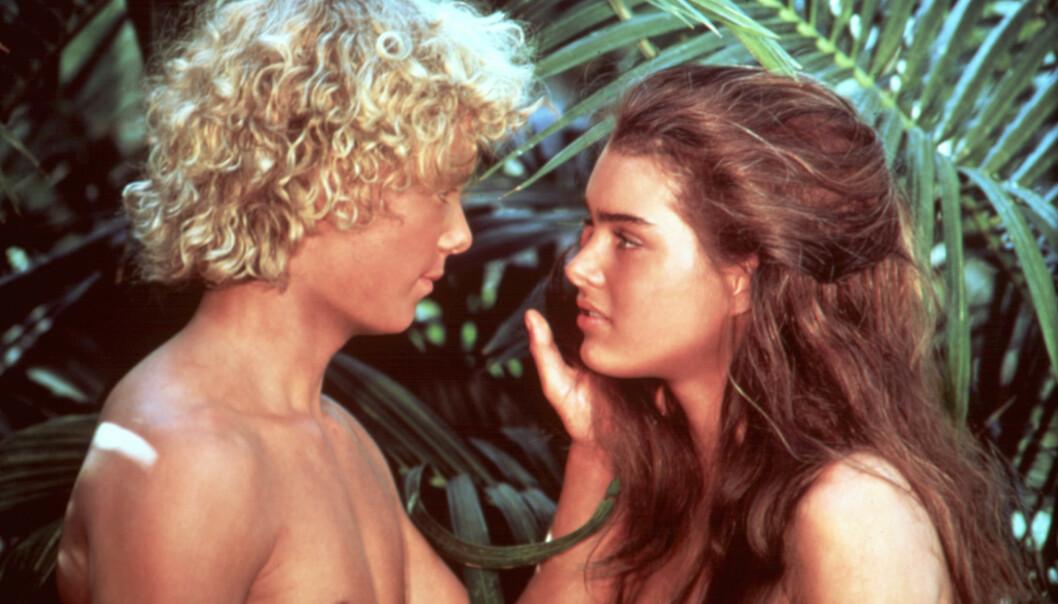 DEN BLÅ LAGUNE: I 1980 kom denne filmen ut, som ble spilt inn på Fiji. Brooke Shileds fylte 15 det året filmen ble vist på kino. FOTO: NTB Scanpix