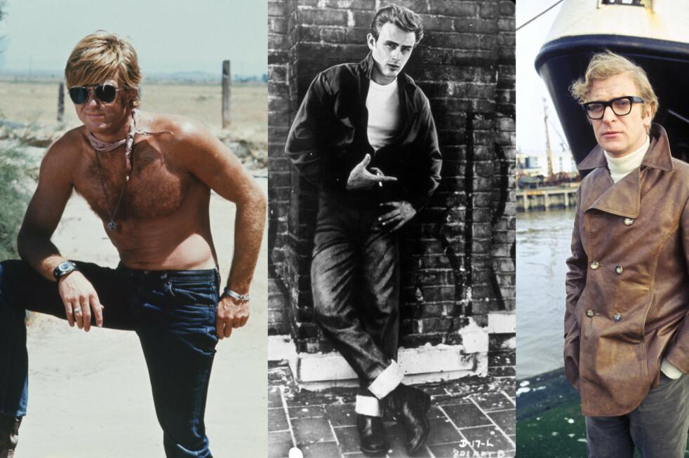 HERREMOTE: Ville du kledd deg som Robert Redford, James Dean eller Michael Caine i dag? Foto: Paramount/Kobal/REX/NTB Scanpix.