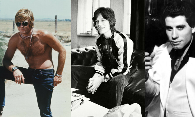 STILIKONER PÅ 70-TALLET: Robert Redford, Mick Jagger og John Travolta. Foto: Paramount/Kobal/REX/NTB Scanpix.
