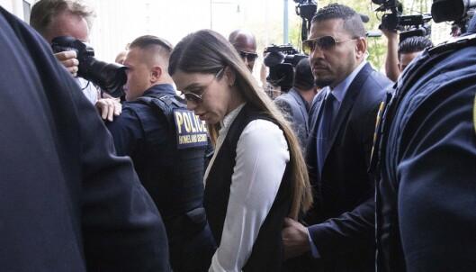 Emma Coronel Aispuro, Joaquin Guzmans kone, ankom rettsmøtet for straffeutmålingen i Brooklyn i New York onsdag. Foto: Mark Lennihan / AP / NTB scanpix