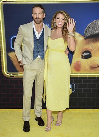 BLIR TREBARNSFORELDRE: Skuespillerparet Blake Lively og Ryan Reynolds venter barn nummer tre. Foto: NTB Scanpix