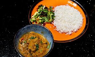 HOVEDRETTEN: En indisk klassiker, chicken tikka masala.
