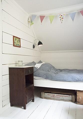 <strong>SKRÅTAK:</strong> Alle soverommene ligger på loftet.