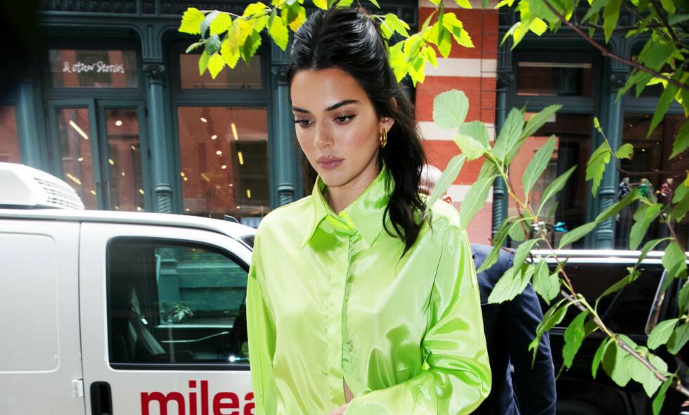 SINGEL: Etter alt å dømme skal Kendall Jenner nå være singel. Etter nye Twitter-meldinger ser det ut til å være alt annet enn god stemning med eksen og hans familie. Foto: NTB Scanpix