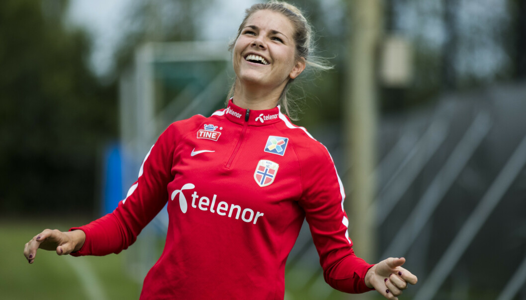 Andrine Hegerberg har signert en toårskontrakt med Roma. Foto: Berit Roald / NTB scanpix