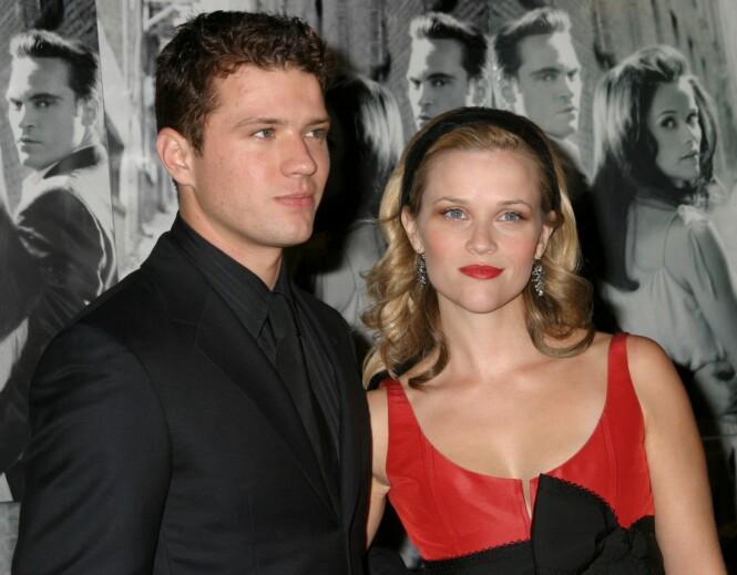 DEN GANG DA: Avas foreldre Reese Witherspoon og Ryan Phillippe fotografert i 2005 - da de enda var et par. FOTO: NTB Scanpix