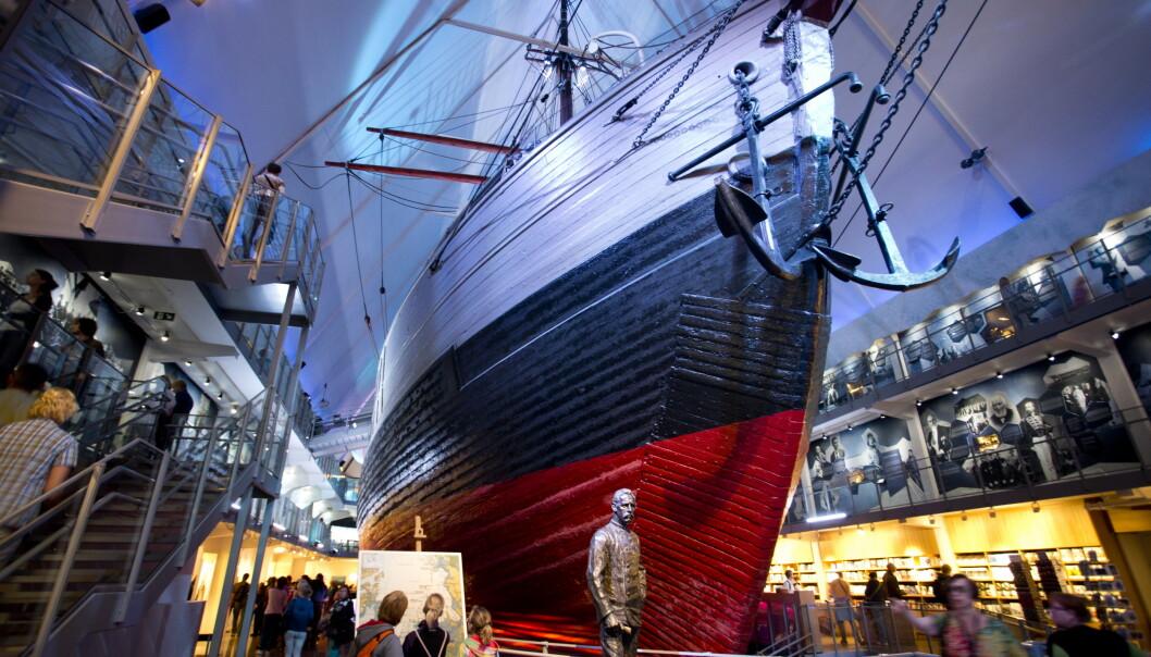 Flere turister fikk søndag ettermiddag frastjålet verdisaker på Fram-museet og Kon-Tiki-museet på Bydgøy i Oslo. Avbildet er polarskipet Fram, som ble brukt i både Roald Amundsen og Fridtjof Nansens ekspedisjoner. Foto: Tor Erik Schrøder / NTB scanpix