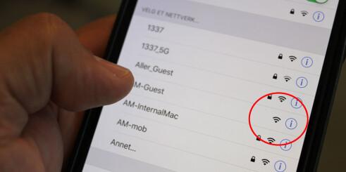- Bruk heller mobildata enn åpne nett