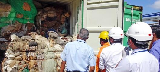 Konteinere skal være fylt av menneskelig rester - sendes tilbake
