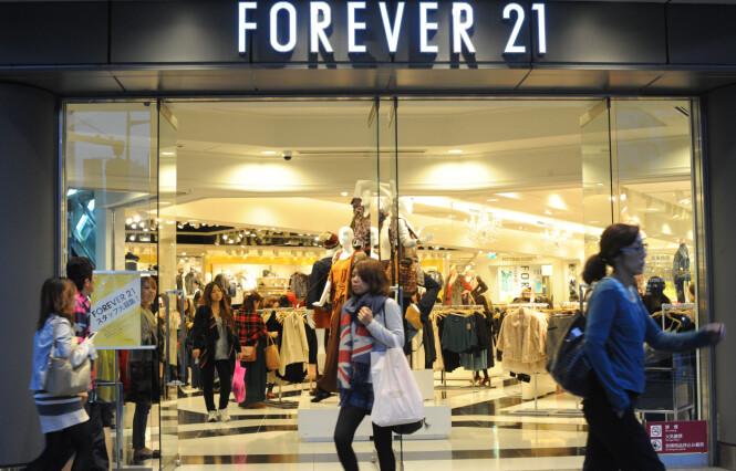FOREVER 21: Kjedebutikken er i hardt vær etter at de sendte ut diett-barer til kundene sine. Foto: Scanpix