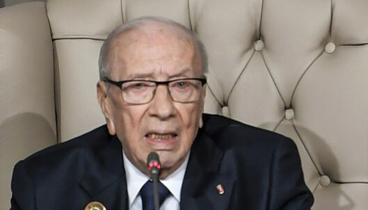 Tunisias president er død