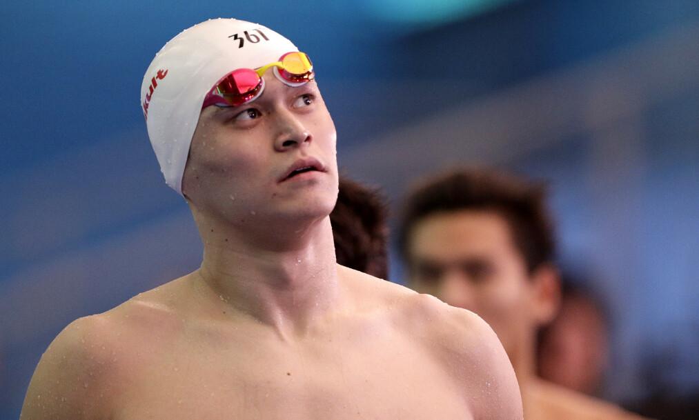 <strong>STJERNESVØMMER:</strong> Sun Yang er en hatet mann i svømmemiljøet. AP Photo/Mark Schiefelbein