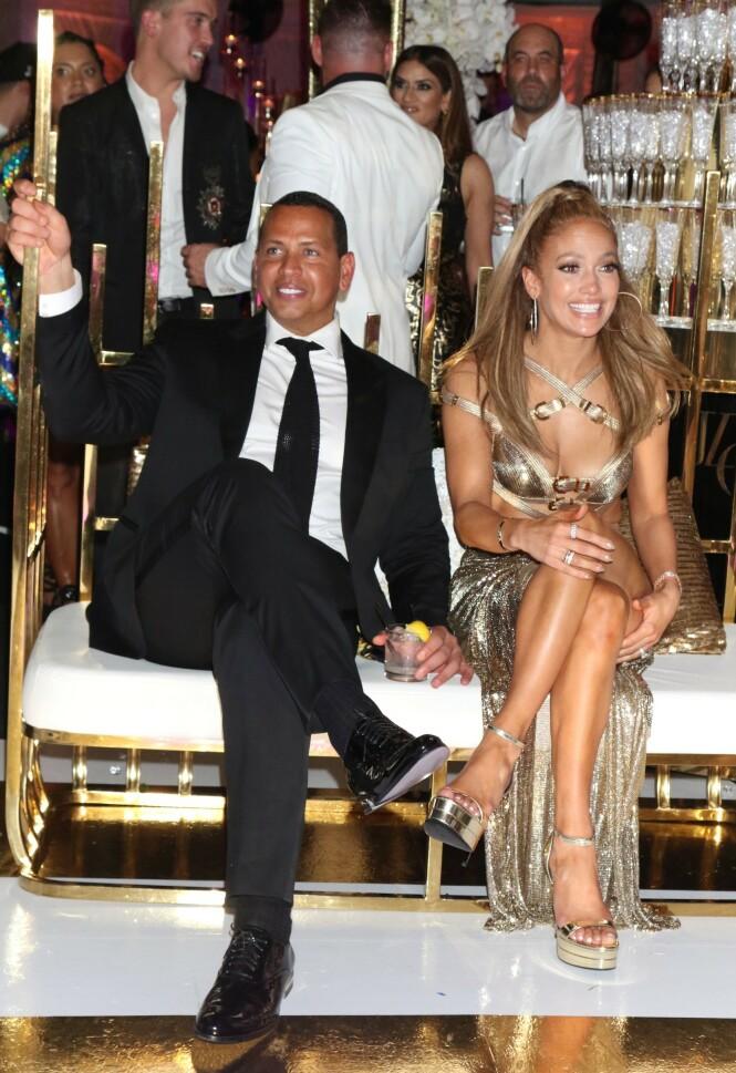 <strong>FORLOVEDEN:</strong> I videoen lengre opp i saken kan du se Alex Rodriguez holde en tale til sin kjære Jennifer Lopez. Foto: Scanpix