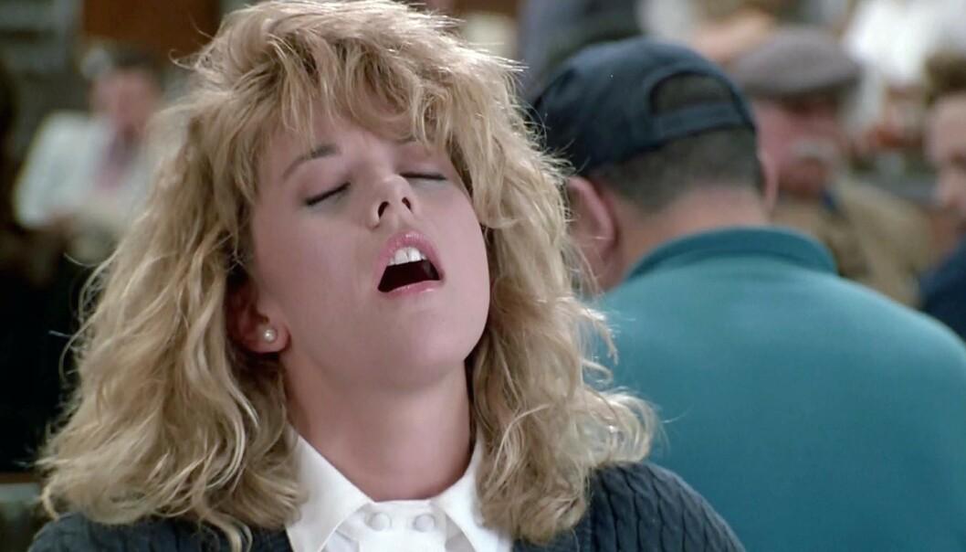«FAKET» ORGASME: Det er få som glemmer Meg Ryans orgasme-scene i «Da han møtte henne» fra 1989. Foto: NTB Scanpix