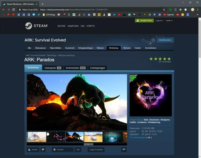 Gjennom Steam Workshop får Malin Skomsvold enkelt distribuert modden sin. Spillere kan abonnere på modden, noe 41.304 personer på skrivende tidspunkt har gjort.
