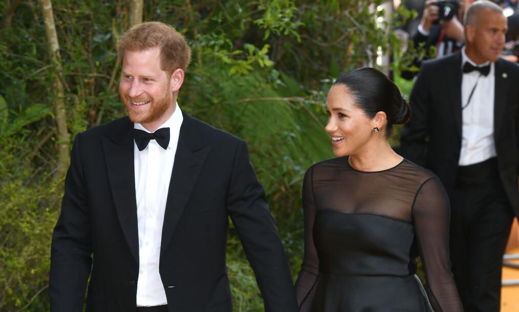 <strong>FORELDRE:</strong> Prins Harry og hertuginne Meghan fikk sitt første barn i mai. Nå avslører prinsen hvor mange barn og kona kommer til å få. Foto: NTB Scanpix