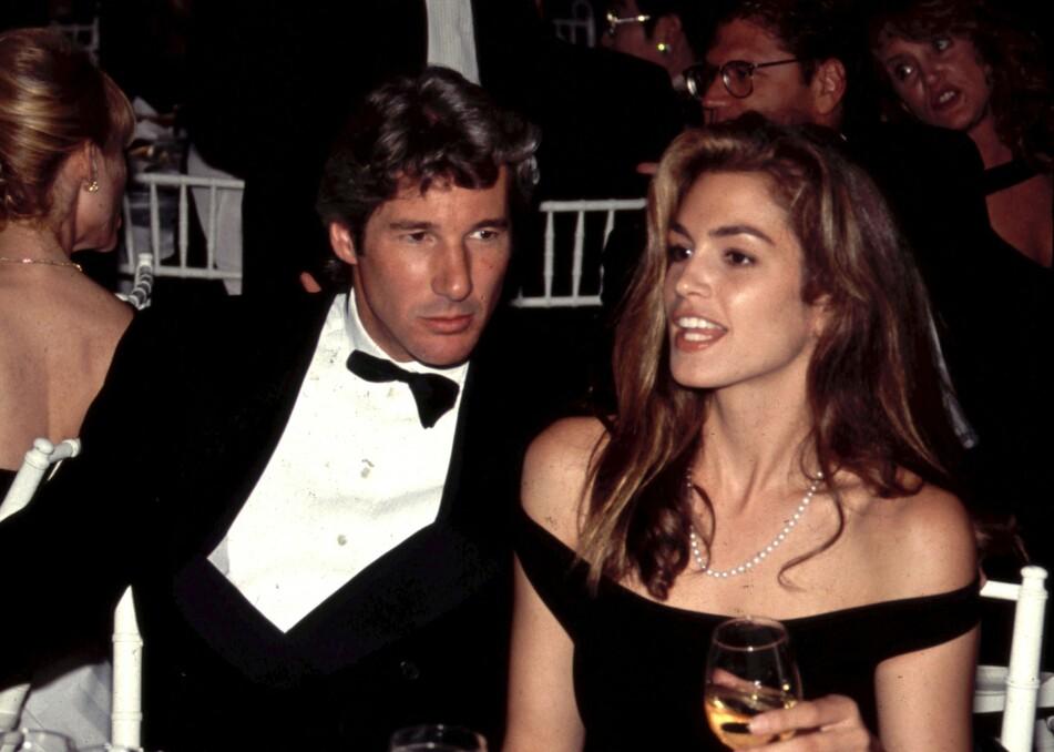 GIFT I FIRE ÅR: Richard Gere og Cindy Crawford inngikk et ekteskap i 1991. Foto: Scanpix