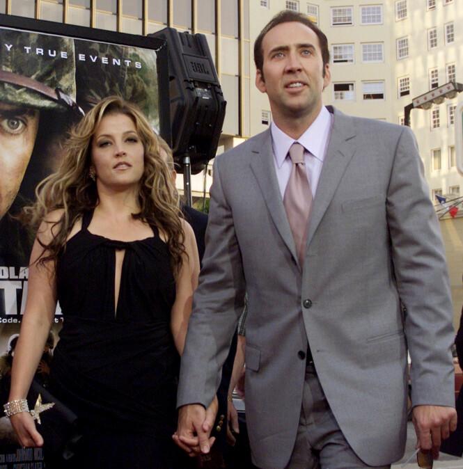 2002-2004: Lisa Marie Presley og Nicolas Cage. Foto: Scanpix